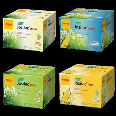JOSILAC Kartons classic, combi, grass und ferm