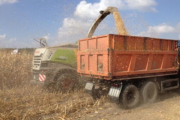 JOSILAC Maschinen bei der Mais Ernte