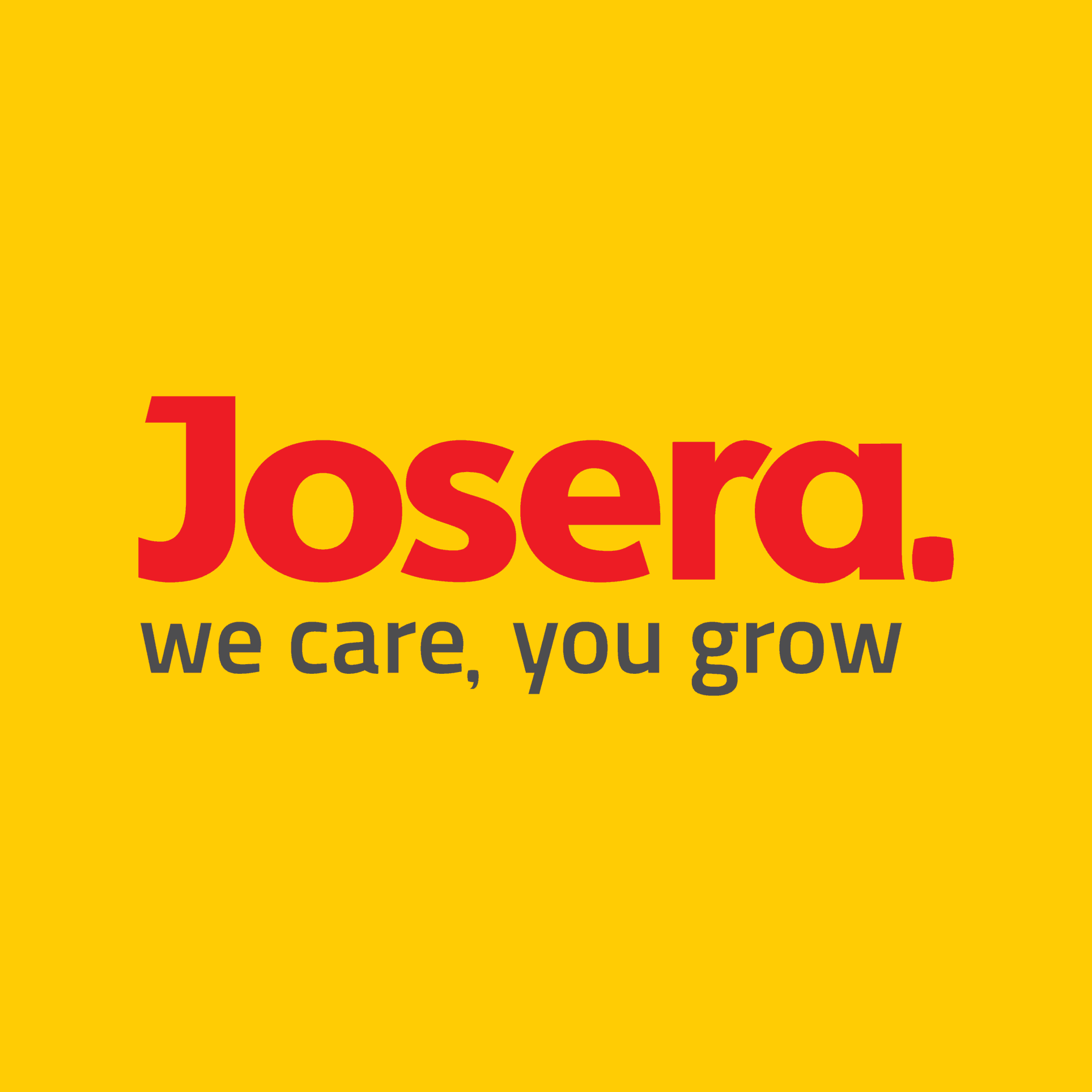 JOSERA Logo we care, you grow